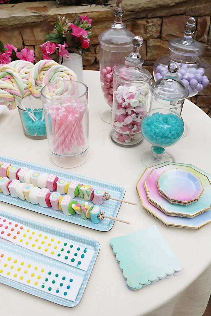 boho-candy-table-for-movie-night-teen-birthday