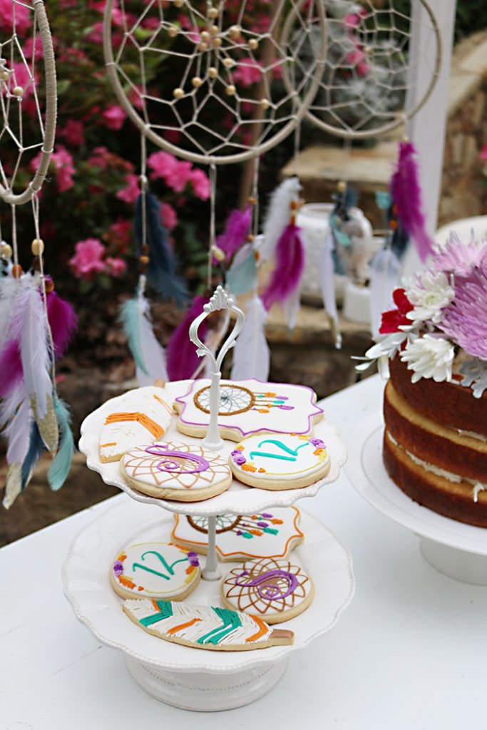 boho-dream-catcher-with-dream-catcher-sugar-cookies