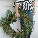 DIY Fresh Magnolia Mixed Branch Wreath