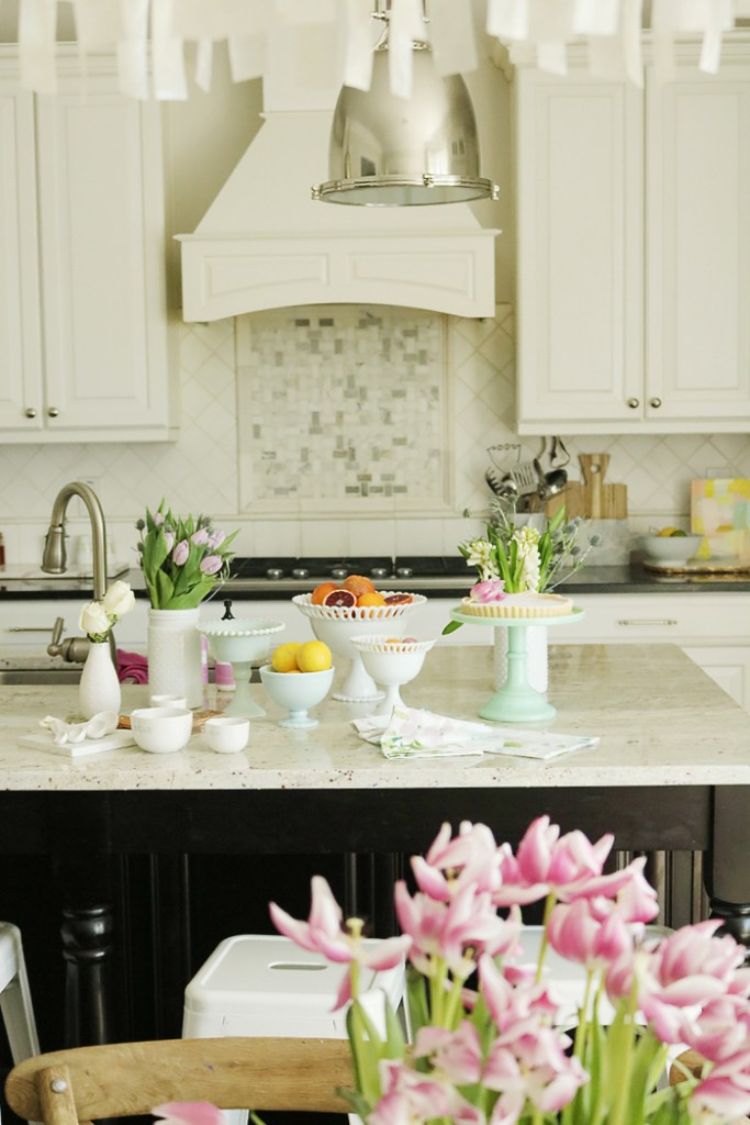 6 spring ways to freshen kitchen, spring kitchen, kitchen ideas for spring, decorating kitchen for spring, spring tablespace, easter kitchen, fresh flowers in kitchen, houseplants in kitchen