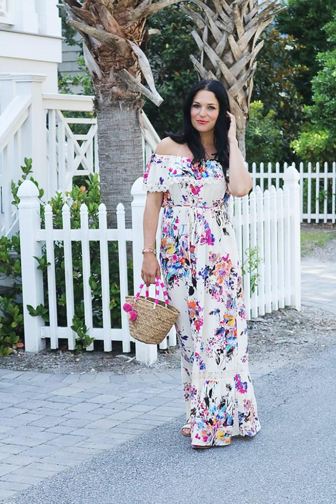 long floral dress, maxi long dress, the minted julep boutique, beach wedding dress ideas, hawaiian tropical dress ideas, beach wedding