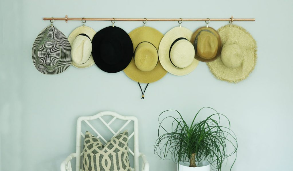DIY Copper Hat Rack