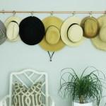 DIY Copper Hat Rack