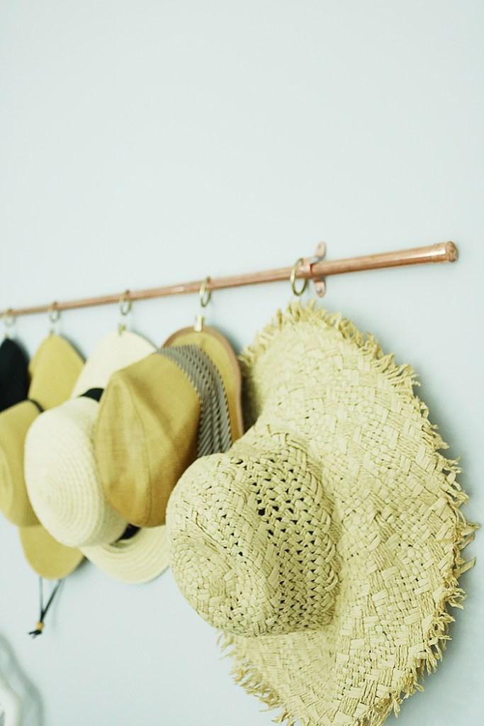 Diy Copper Hat Rack Darling Darleen A Lifestyle Design