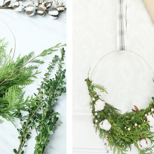 Modern Wire Evergreen Wreath