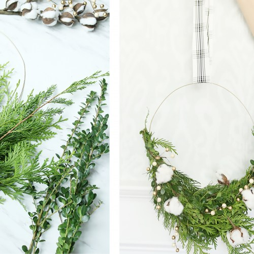Modern Wire Evergreen Wreath