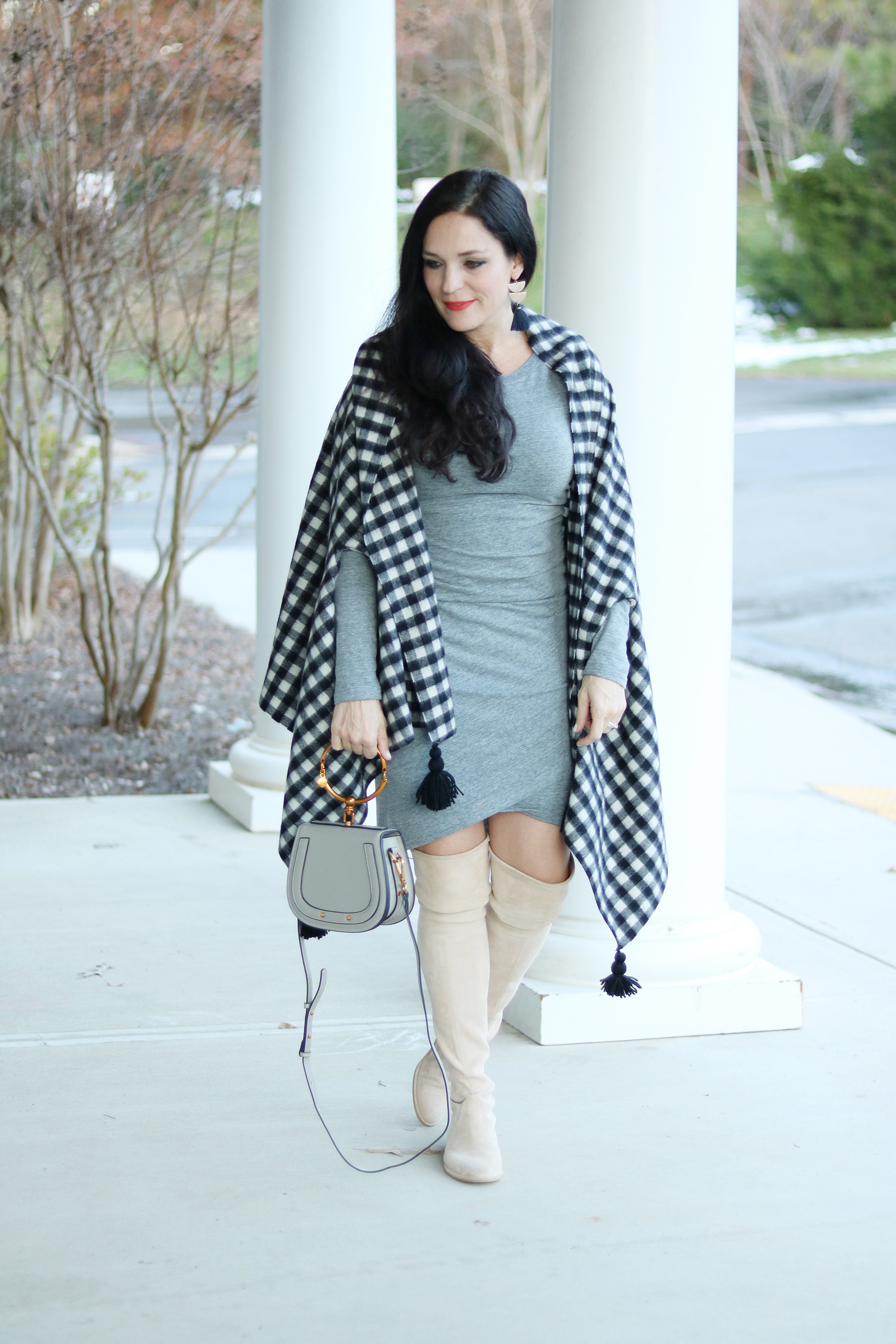cape scarf outfit, cape scarf Jcrew, Cape scarf pattern, cape shawl, winter cape scarf, how to wear cape scarf, cape scarf wraps, cape scarf with boots, plaid cape scarf, casual cape scarf, cape scarf ideas and inspiration, blanket coat, simple blanket wrap, cold weather, made well, over the knees winter outfit style