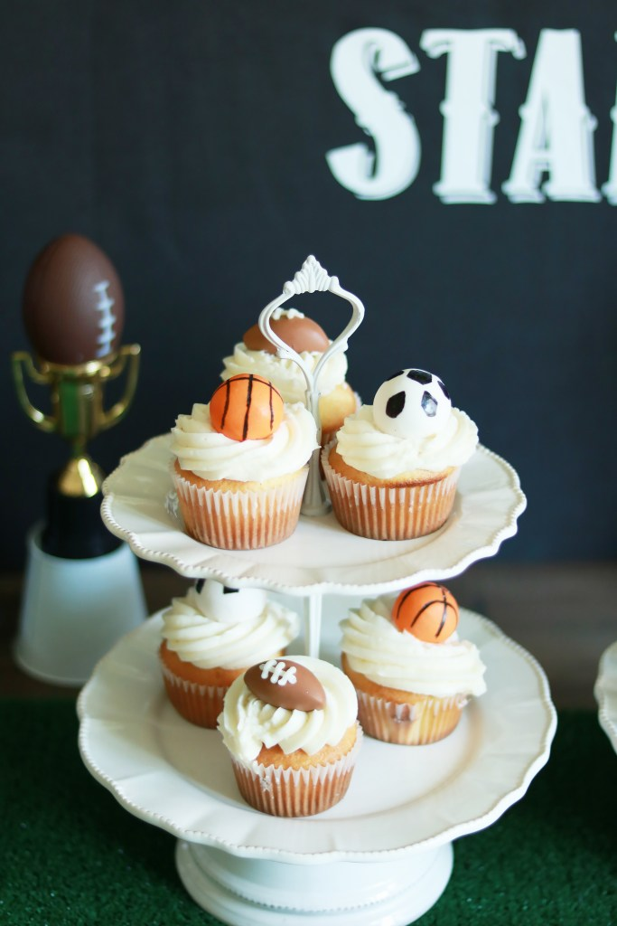 Sports Themed Birthday Party Cupcakes || Darling Darleen