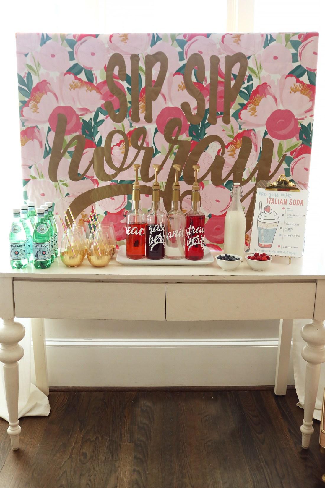 Italian Soda Bar + Free Printable || Darling Darleen