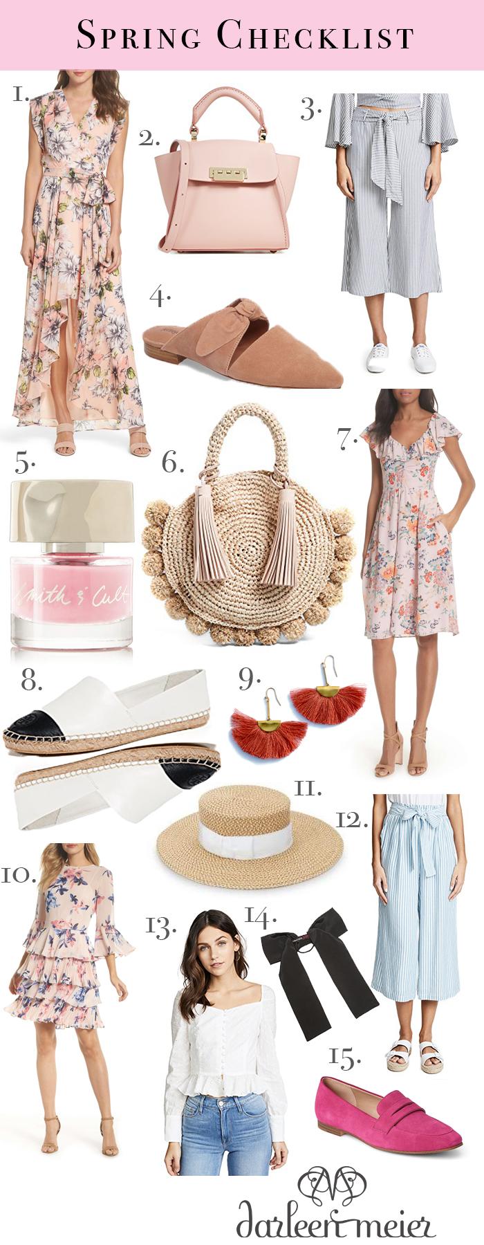 Spring Checklist Style Trends || Darling Darleen