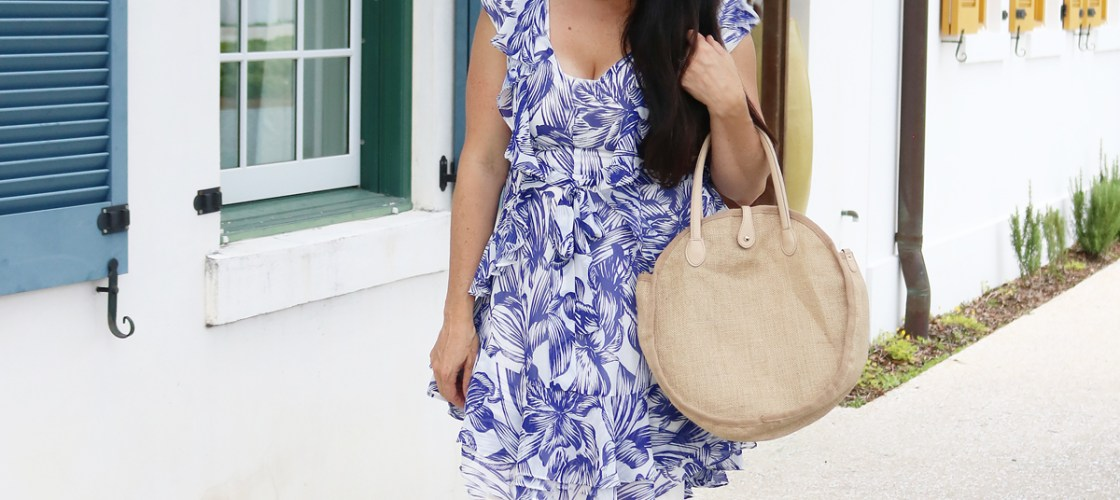 Summer Trend Floral Ruffle Wrap Dresses