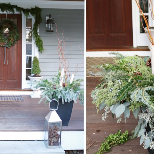 Outdoor Winter Birch Planters