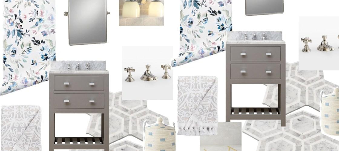 Powder Bathroom Inspiration Board