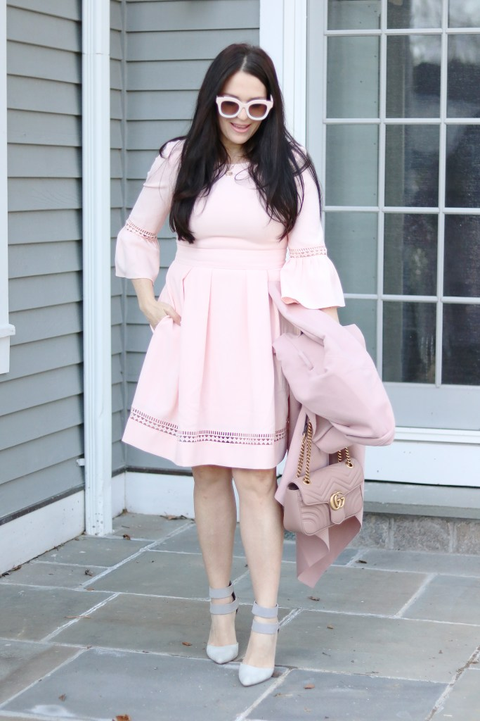 Pink on Pink classy pink dresses to wear to a wedding or a formal dinner or a formal afternoon party || Darling Darleen #pinkdress