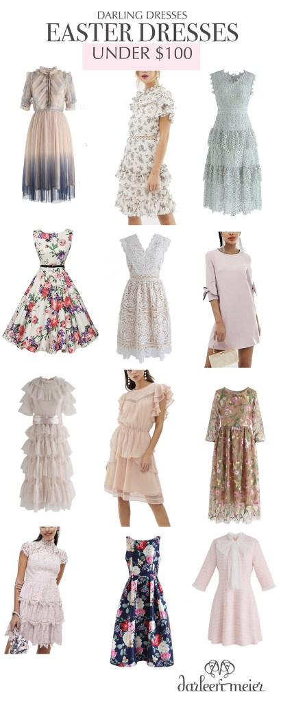 My picks for the best and cutest Easter Dresses under $100 that you will want to wear all throughout spring and summer!  Best spring dresses.  || Darling Darleen #easterdress #under100