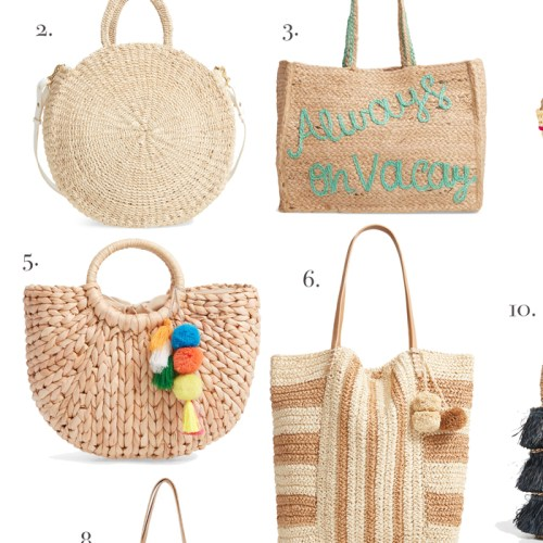 Woven Straw Bags + Giveaway
