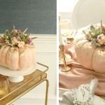 Pumpkin Succulent Flower Centerpiece
