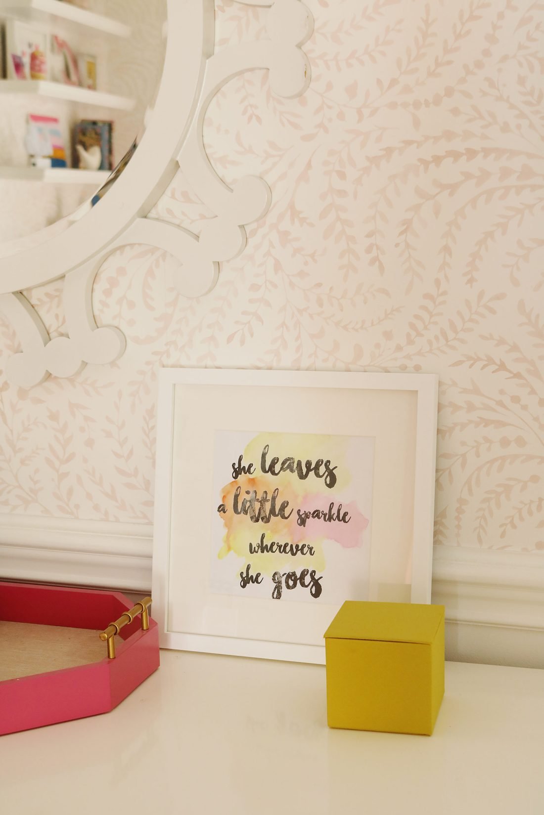 How to Make DIY Typography Art Prints in Microsoft Word in Less than 20 minutes!  Add watercolor to add style and color.  Get the step-by-step process || Darling Darleen Top Lifestyle Blogger #darlingdarleen #diytypography #diyartprint