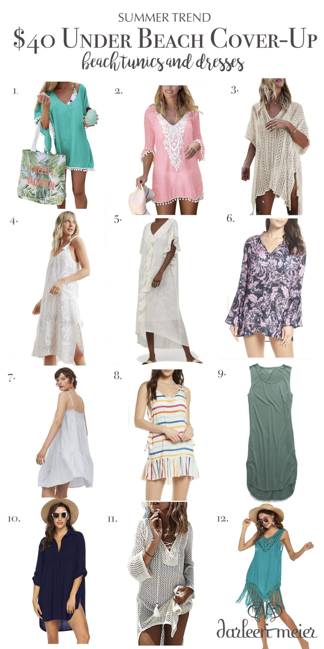 The best beach cover-ups under $40, beach tunics and dresses, summer trend, summer essential || Darling Darleen Top Lifestyle CT Blogger #beachcoverups #darlingdarleen #darleenmeier