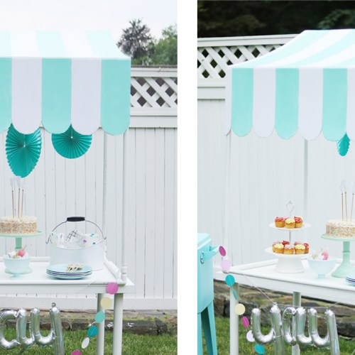 DIY Scallop Table Top Canopy