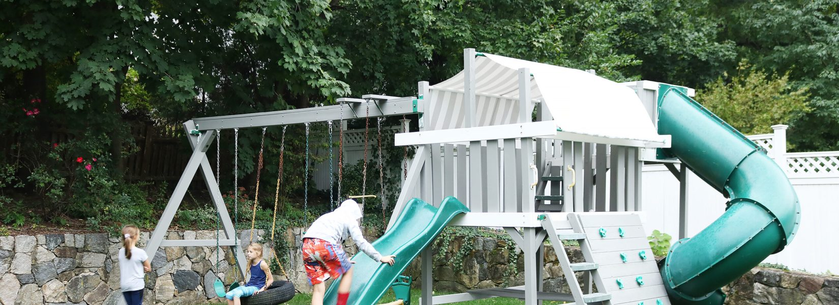 Backyard Playset Makeover
