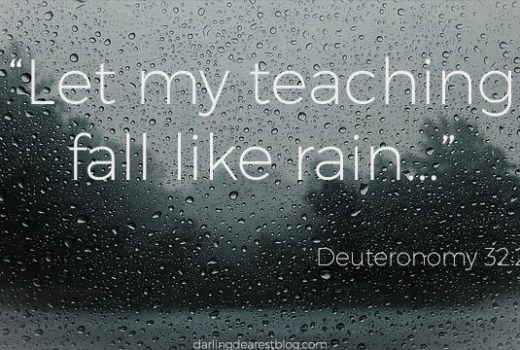 deuteronomy, bible verses about rain