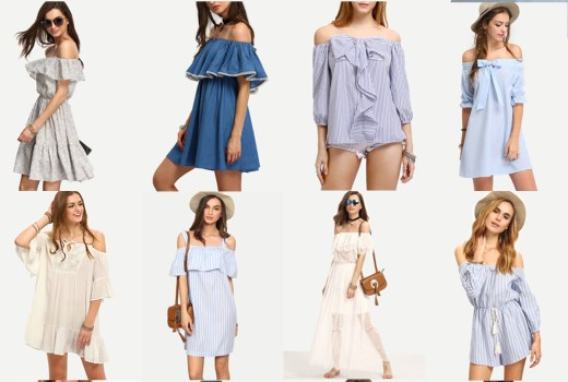 affordable off the shoulder tops for spring and summer