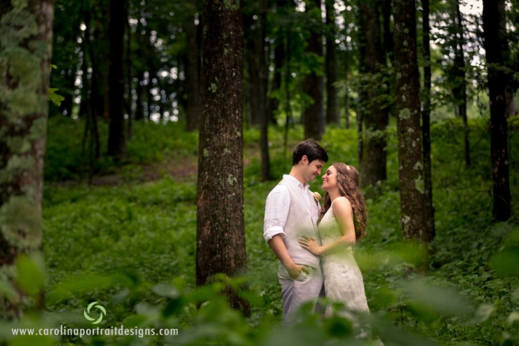 Emily & Brett Green's Boone Wedding on 6/27/15 by Garrett Price of .