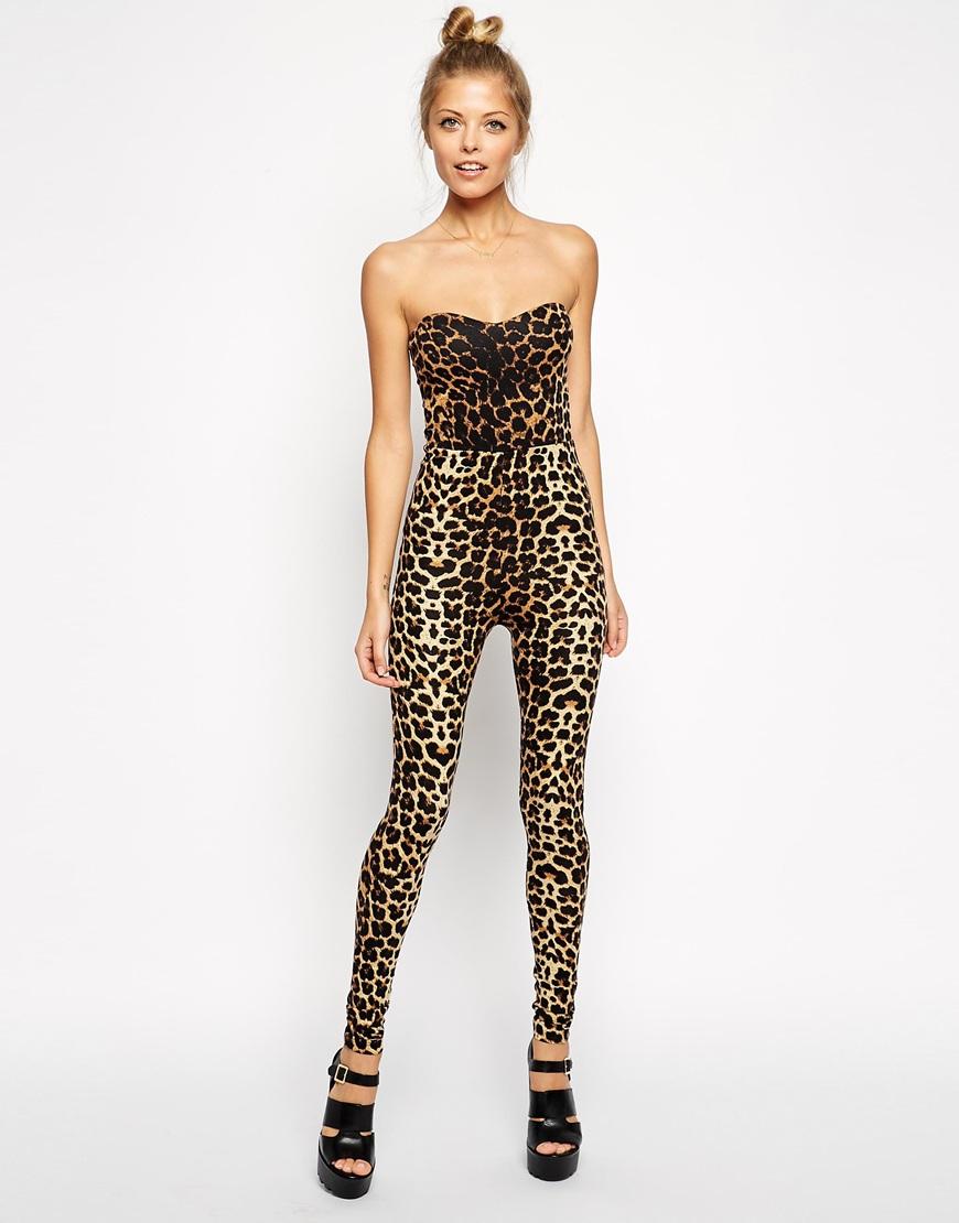 asos combinaison peau de léopard