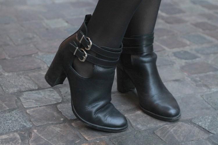 robe mademoiselle R, veste mango, echarpe, sac à main, bordeaux, chaussures bocage 28