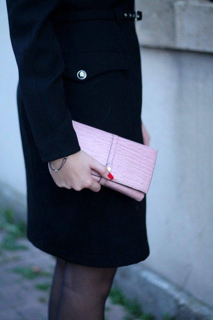 robe manteau thierry mugler pochette escarpins zara vernis dior