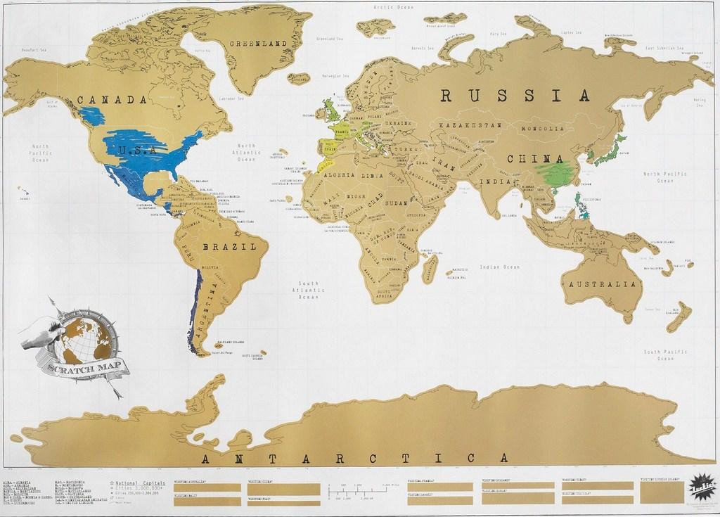 carte du monde a gratter