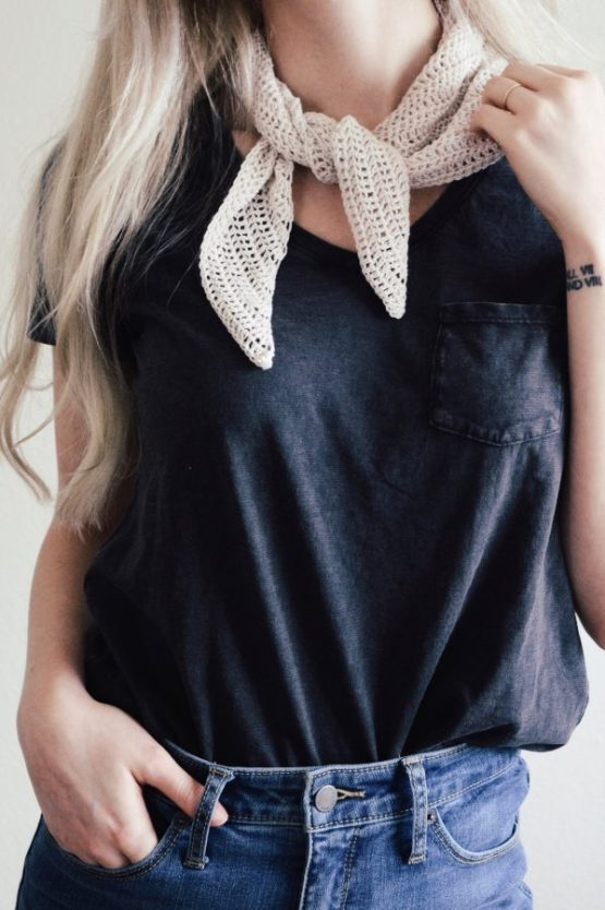 darling jadore corchet pattern triangle scarf