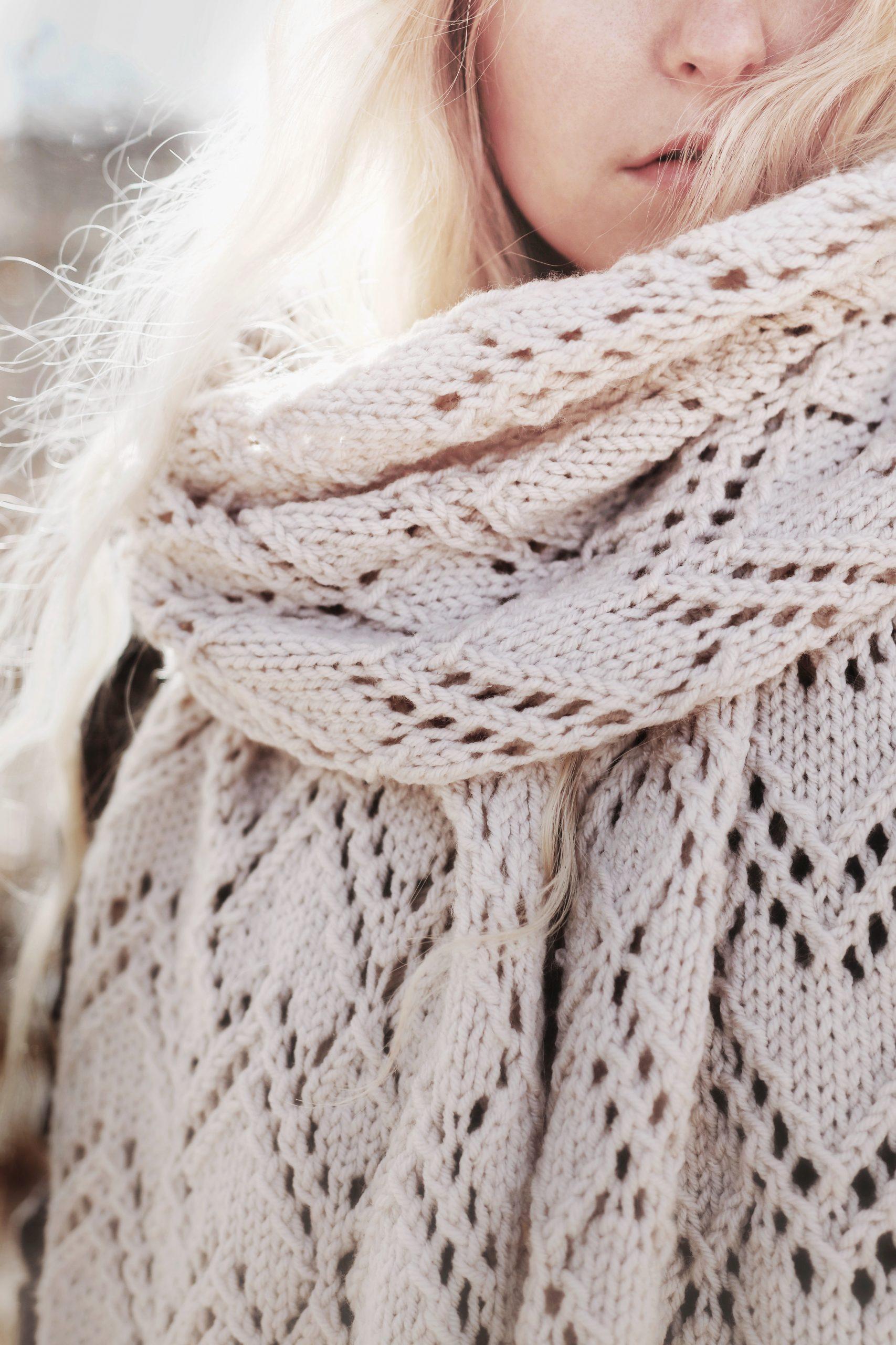Glacier Scarf Knitting Pattern By Darling Jadore
