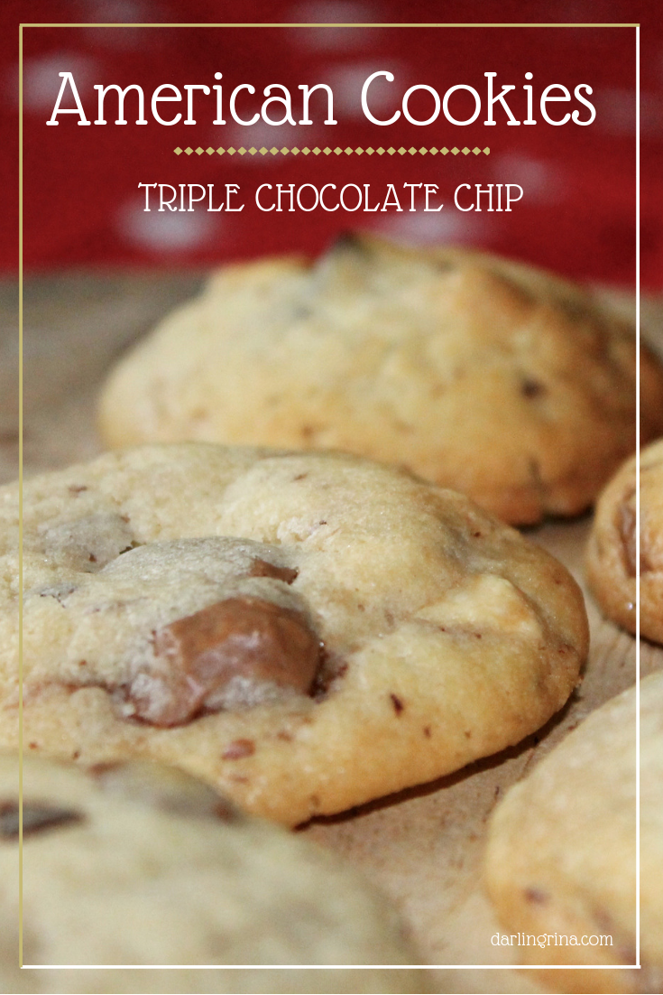 AMERICAN COOKIES – TRIPLE CHOCOLATE CHIP