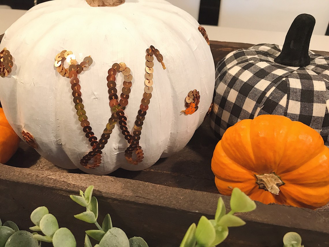 DIY pumpkin monogram
