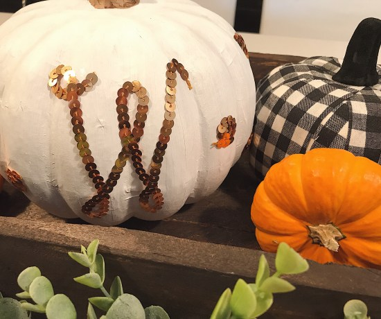 Fall table display and DIY pumpkin monogram - Darling South