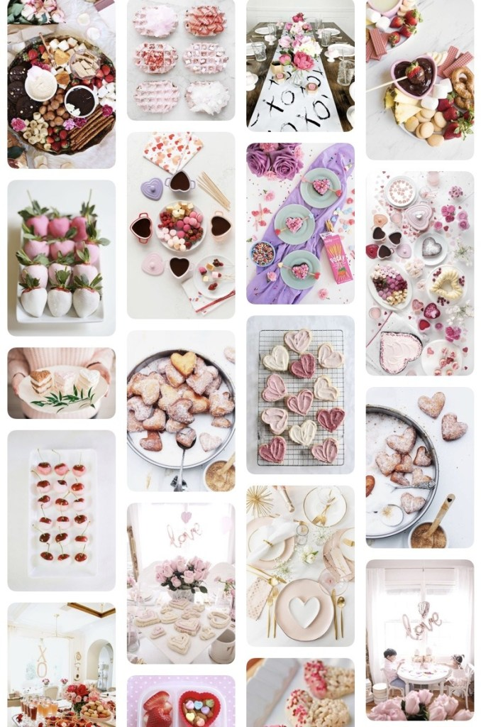 Valentine's inspired images on Pinterest.
