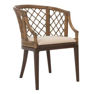 barrel back rattan arm chair