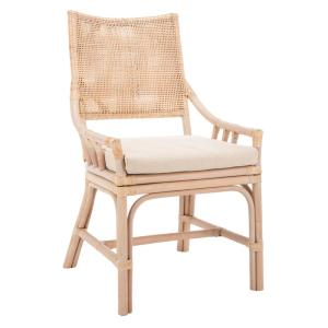 rattan arm chair with cushion