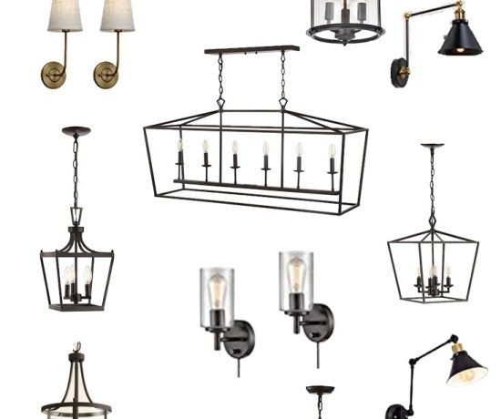 A collection of varying light fixtures for entryways, dining areas, and hallways.
