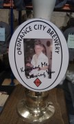 A beer brewed specially for the festival and the Margaret the committee chair prson