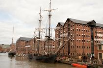 Filming at the Docks: Tall Ship The Wonder