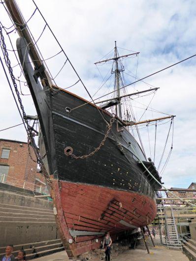 Earl of Pembroke in dry dock