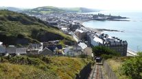 Walk due to the Aberystwyth Funicular Cliff Railway closed for maintenance