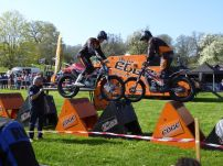 Trial stunt show - these people are properly mad!
