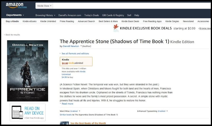 Preorder The Apprentice Stone novel at the Amazon website