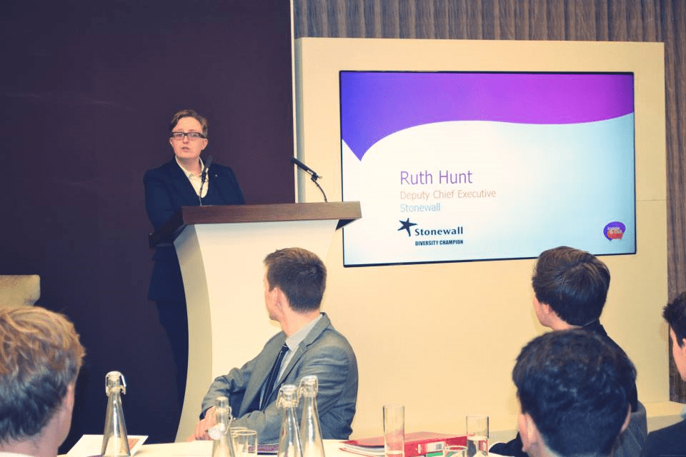 Photo of Inside and Out Ruth Hunt from Stonewall gives an insight into career options and the LGBT landscape