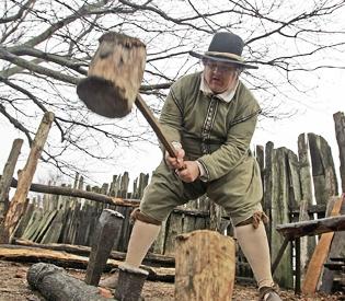 Boston Herald's Darren Garnick volunteers as a Pilgrim at the Plimoth Plantation living history museum