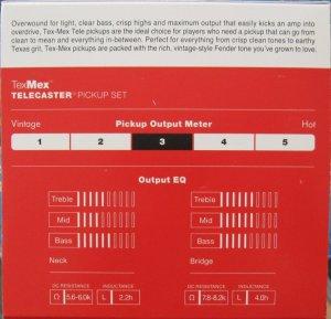 Fender Tex Mex Telecaster Pickups set of 2 0992263000